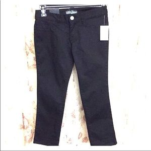Almost famous black skinny light crop pants NEW 1